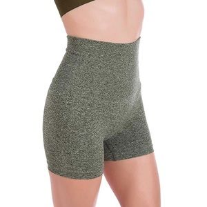 Heather Green Seamless Gym Shorts